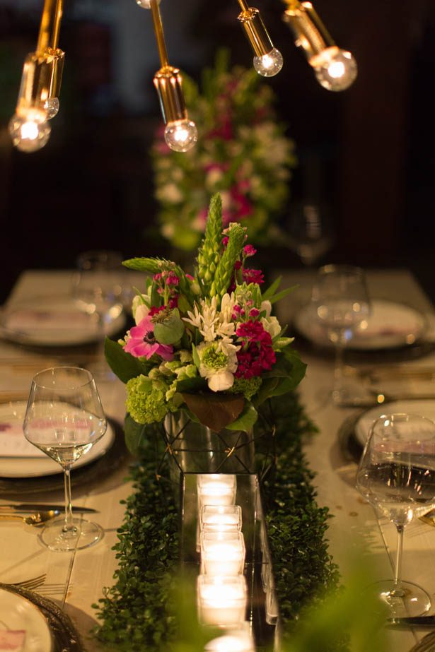 Greenery wedding centerpieces - Emily Leis Photography