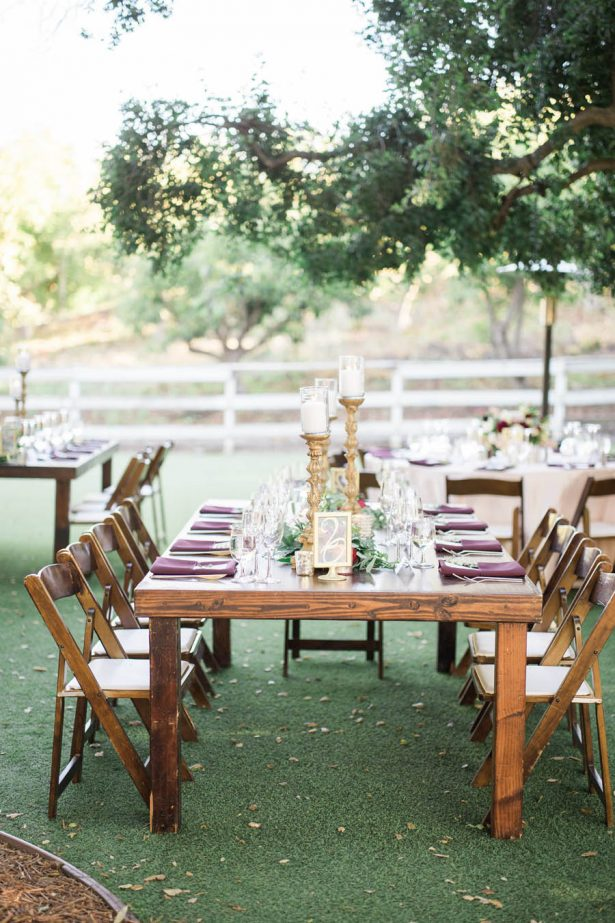 Long Wedding Table - Jenny Quicksall Photography
