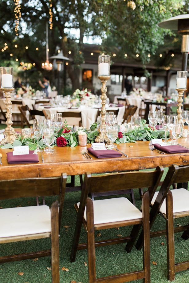 Long Wedding Table Tablescape - Jenny Quicksall Photography