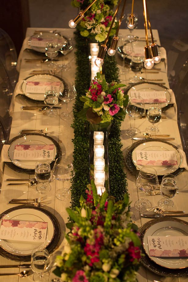 Long wedding table - Emily Leis Photography
