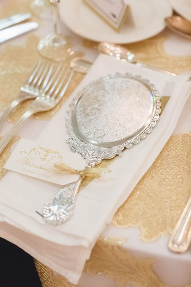 Mirror wedding favors - Don Mears Photography