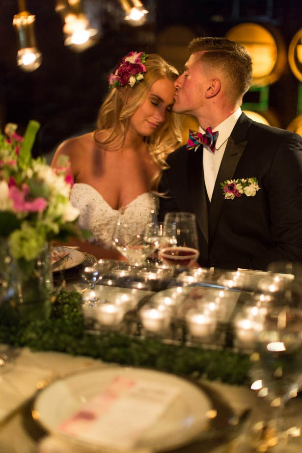 Modern glamour wedding in a winery - Emily Leis Photography