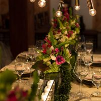 Modern glamour wedding table - Emily Leis Photography