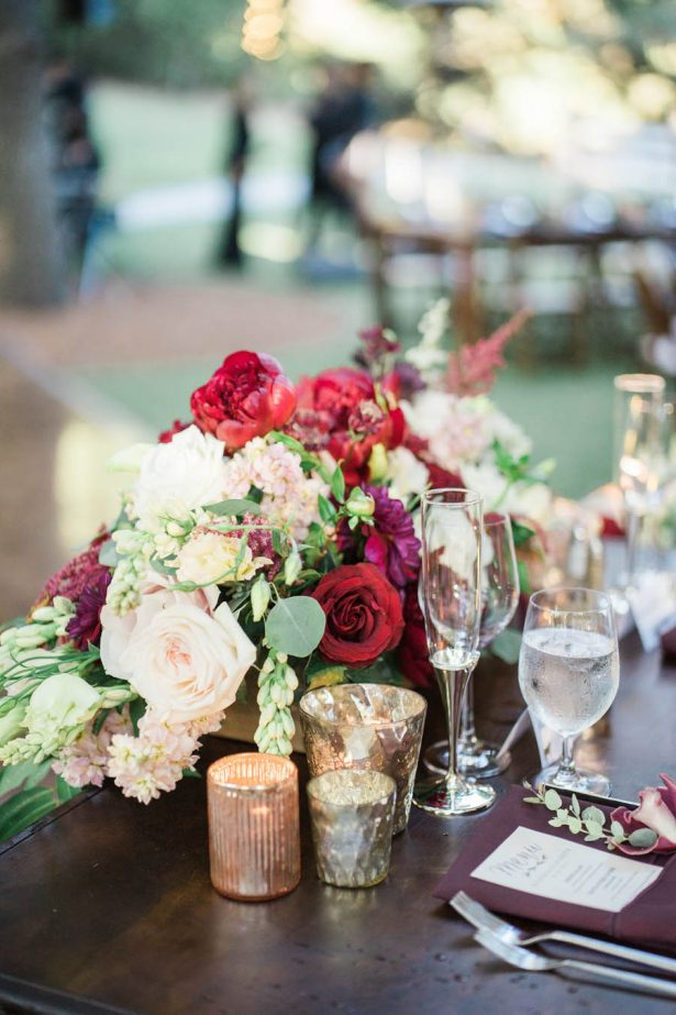 Ranch Wedding Centerpiece - Jenny Quicksall Photography