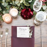 Ranch Wedding Menu - Jenny Quicksall Photography