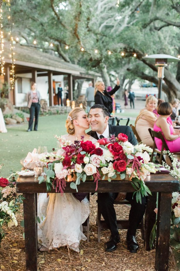 Ranch Wedding Sweetheart Table - Jenny Quicksall Photography