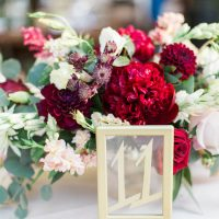 Gold Wedding Table Number - Jenny Quicksall Photography