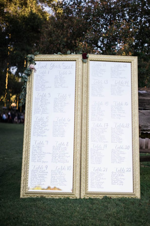Ranch Wedding TableSeating Sign - Jenny Quicksall Photography