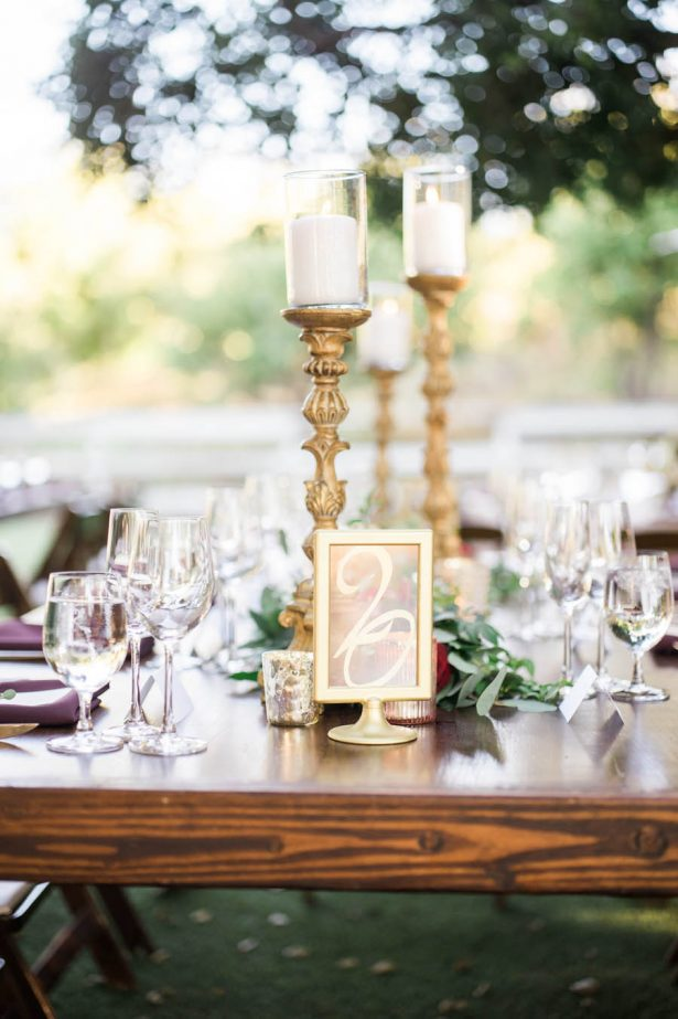 Rustic Wedding Elegant Tablescape - Jenny Quicksall Photography
