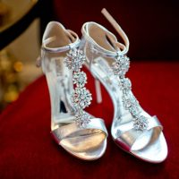 Silver Wedding Shoes - Photography: Mosca studio
