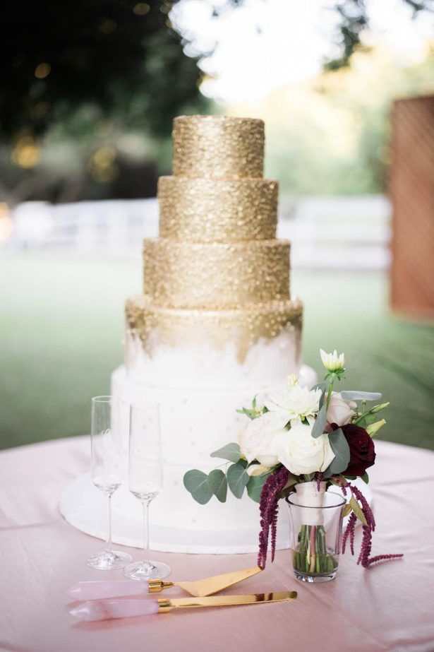 Gold Wedding Cake - Jenny Quicksall Photography