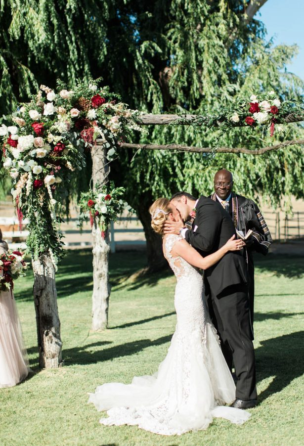 Wedding First Kiss - Jenny Quicksall Photography
