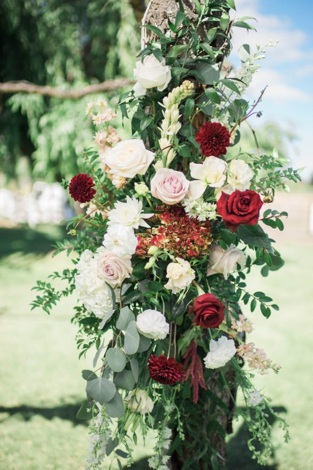 Wedding Arch Flowers - Jenny Quicksall Photography