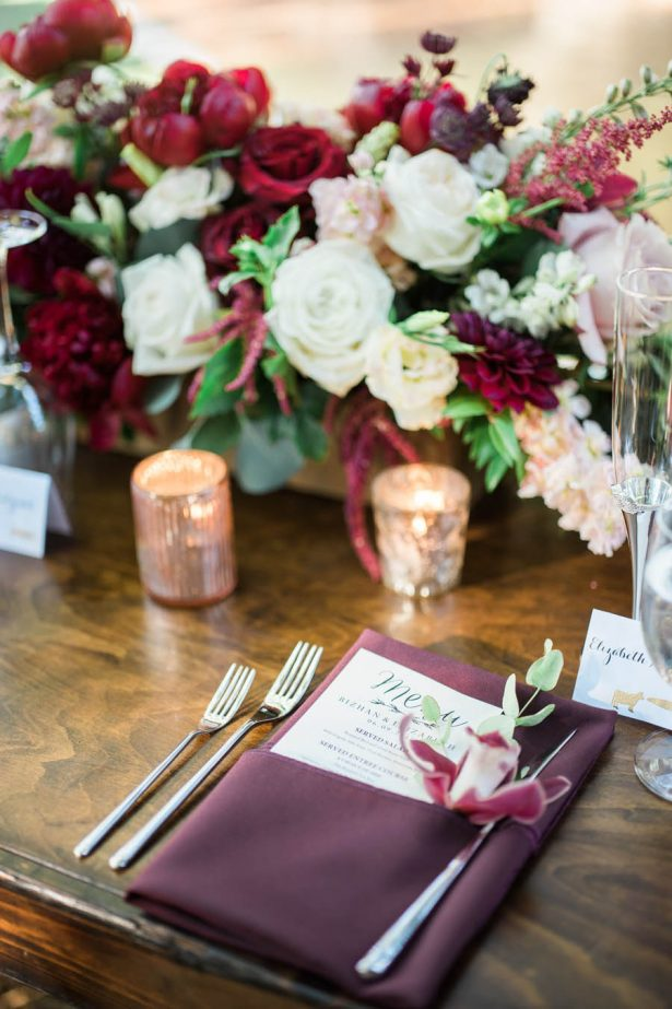 Wedding Place Setting - Jenny Quicksall Photography