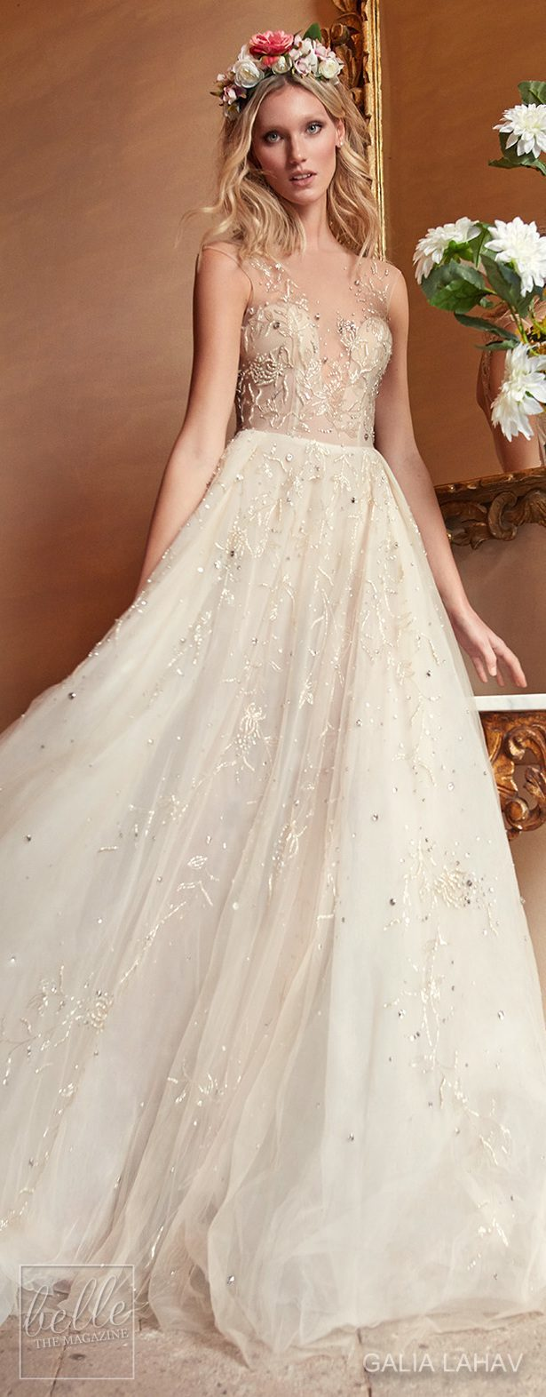 Wedding dress by Galia Lahav Couture Bridal - Fall 2018 - Florence by Night - Rose Water