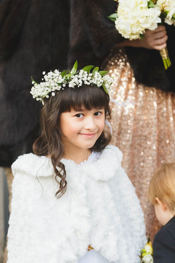 Winter wedding flower girl - Don Mears Photography