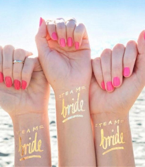 Bachelorette Party Ideas -foil temporary Tattoos