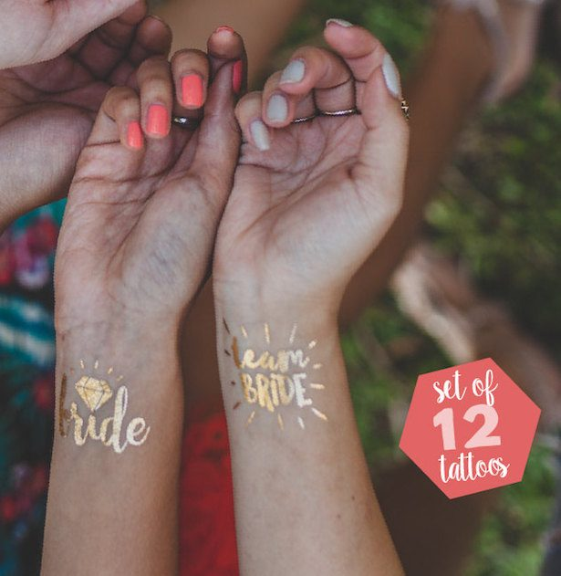 Bachelorette Party I deas -foil temporary Tatoos