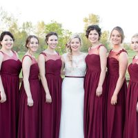 Berry bridesmaid dresses - Eva Rieb Photography