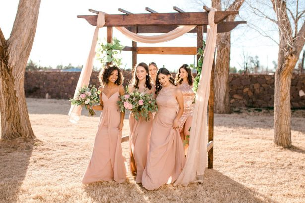 Blush Bridesmaid Dresses - Sparrow and Gold Photography