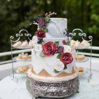 Bold and Romantic Wedding Cake table - KVC Photography