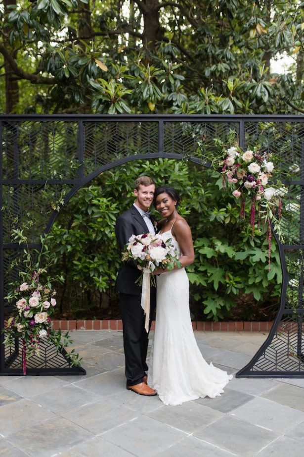 Bold and Romantic Wedding Ceremony Arch - KVC Photography