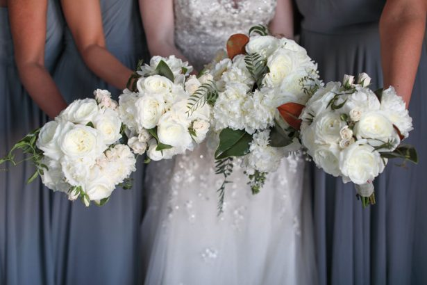 Bridal Party White Bouquets - Jana Williams Photography
