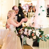 Bride and Groom Cutting the Cake - Jana Williams Photography