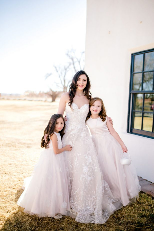 Bride and flower girls - Sparrow and Gold Photography