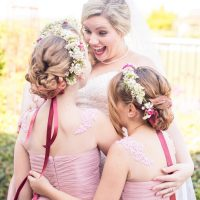 Bride and flowergirls - Eva Rieb Photography