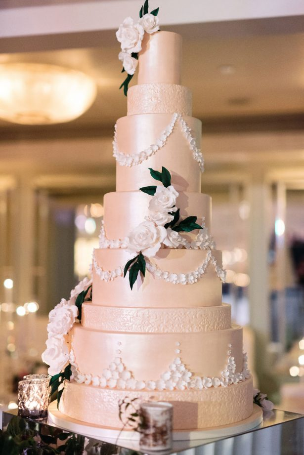 Classic Ivory Wedding Cake - ​Jana Williams Photography​
