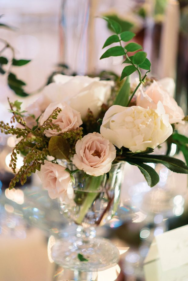 Classic White Wedding Centerpiece - ​Jana Williams Photography​