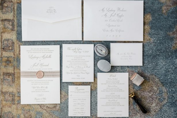 Classic White Wedding Invitations - ​Jana Williams Photography​