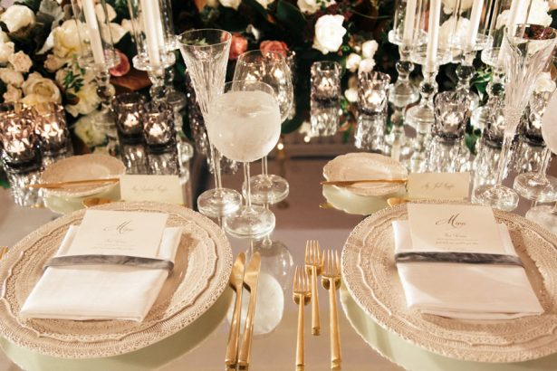 Classic wedding place setting - ​Jana Williams Photography​