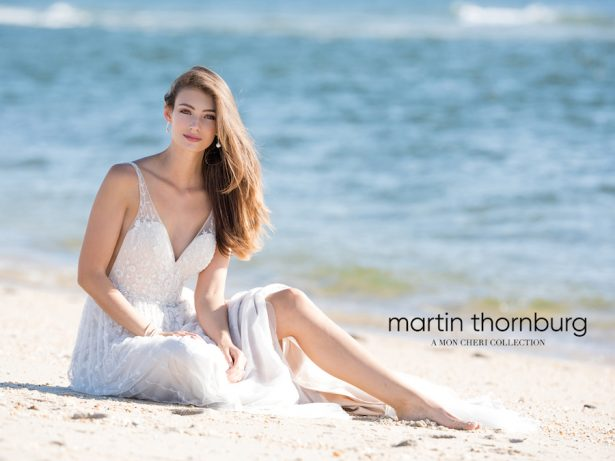 Colorful Wedding Dresses by Martin Thornburg, a Mon Cheri Collection