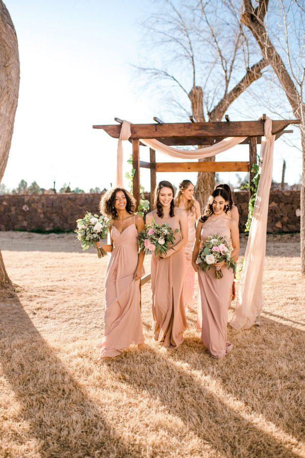 Dusty Rose Bridesmaid dresses - Sparrow and Gold Photography