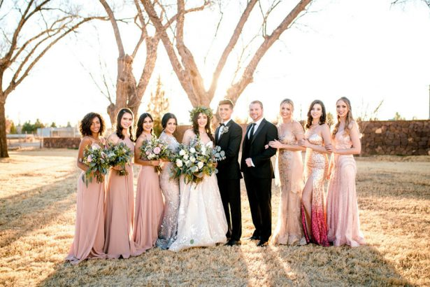 Elegant Wedding Party - Sparrow and Gold Photography