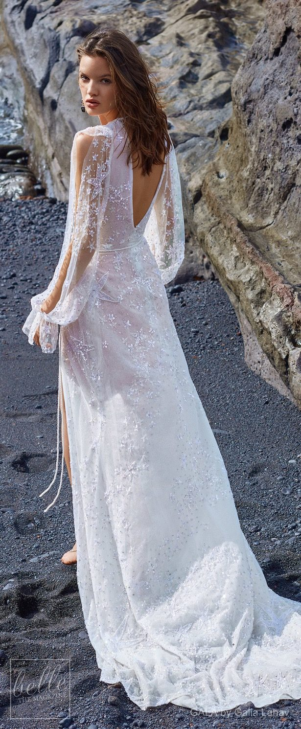 K'Mich Weddings - wedding planning - wedding dresses - white poet sleeve back -- belle collection