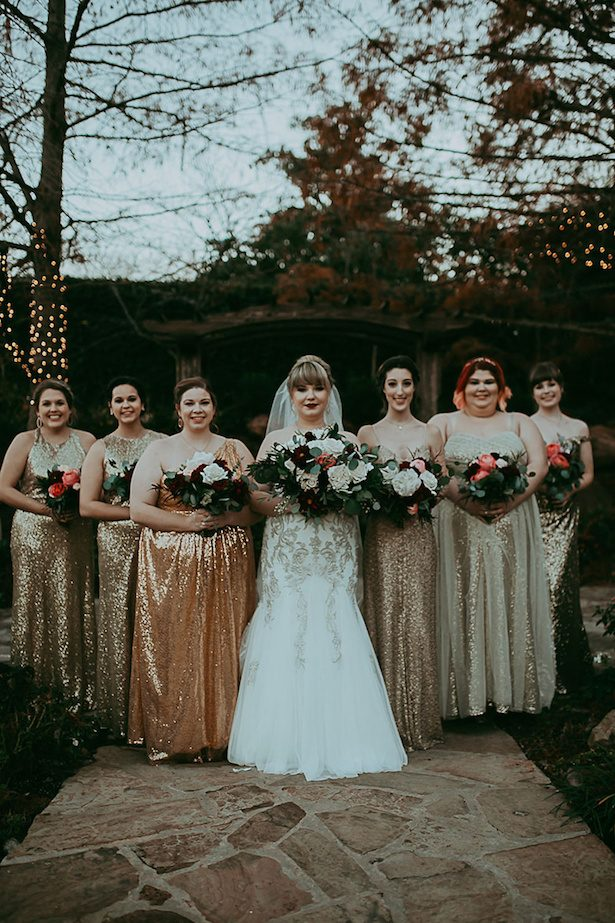 Gold bridesmaid dresses - Ashley Layden Photography