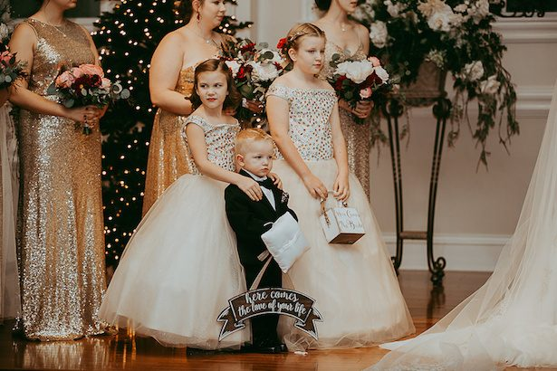 Gold flower girl dresses - Ashley Layden Photography