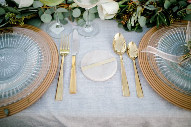 Grey and greenery wedding details - Sparrow and Gold Photography