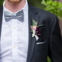 Grooms bowtie and boutonniere - KVC Photography