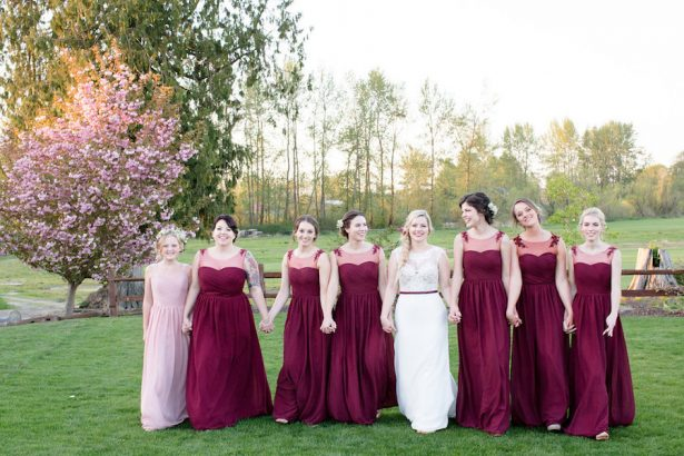 Maroon bridesmaid dresses - Eva Rieb Photography