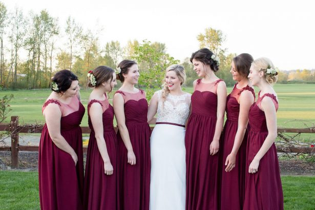 Burgundy bridesmaid dresses - Eva Rieb Photography