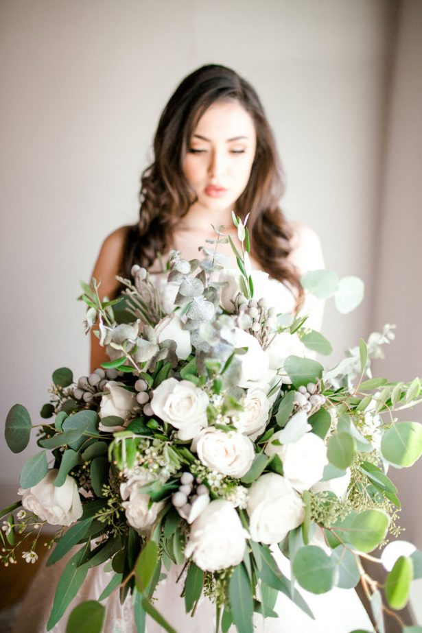 Organic Wedding Bouquet - Sparrow and Gold Photography