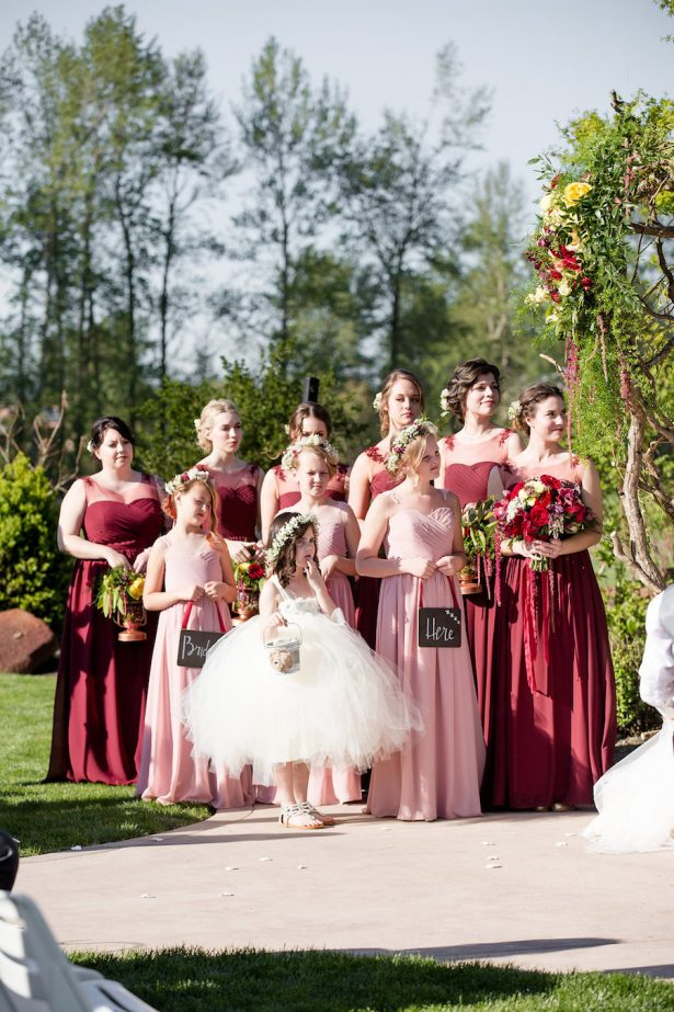Pink and red bridal party - Eva Rieb Photography