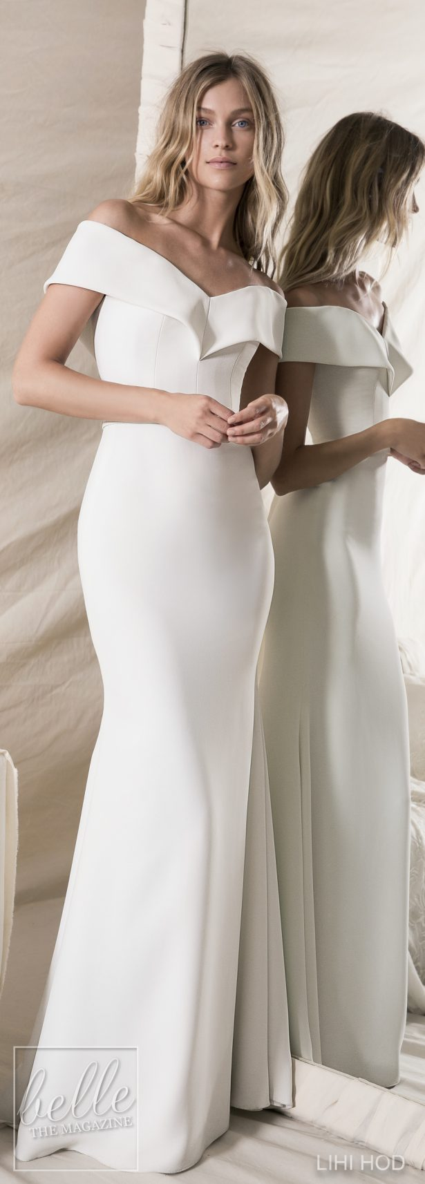 Simple Wedding Dress by by Lihi Hod