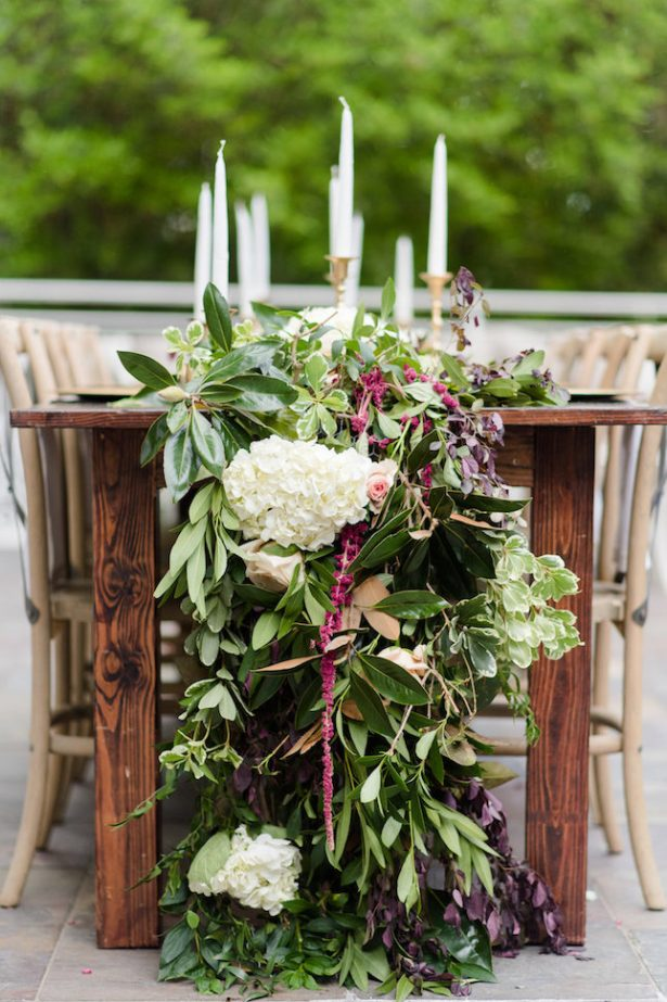 Wedding Garland Centerpiece - KVC Photography