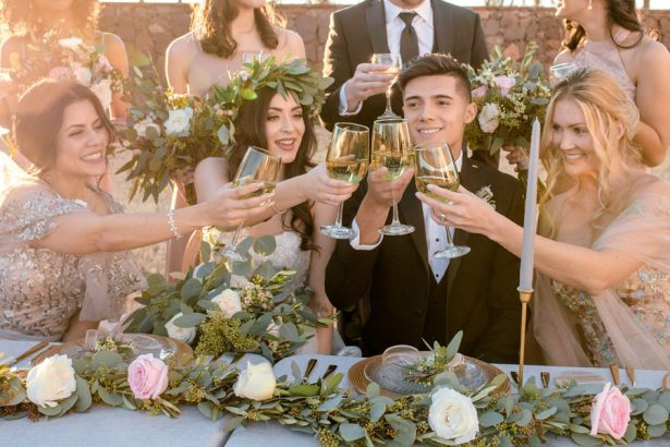 Wedding Toast - Sparrow and Gold Photography