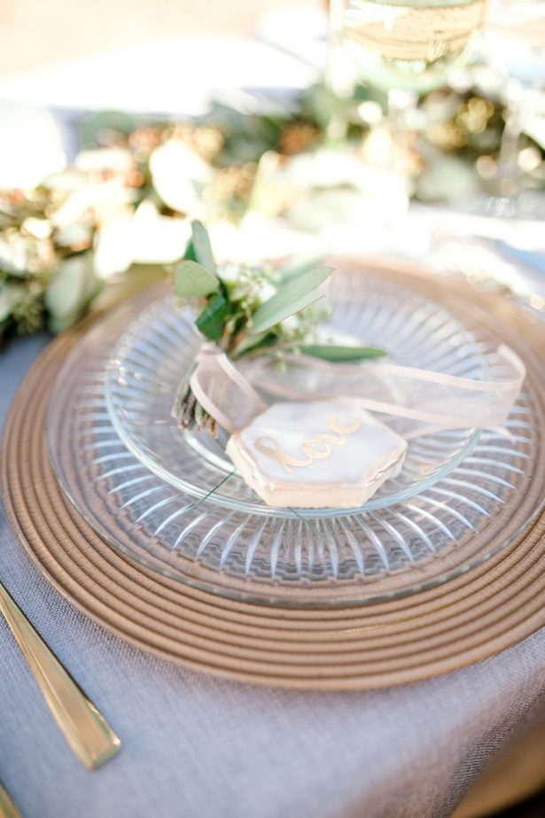 Elegant Wedding Place Setting - Sparrow and Gold Photography